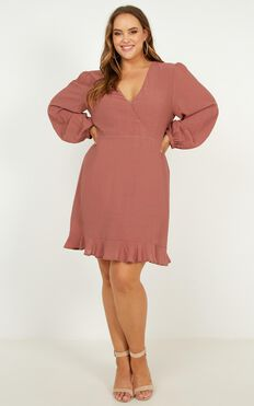 Fire Side Dress In Dusty Rose