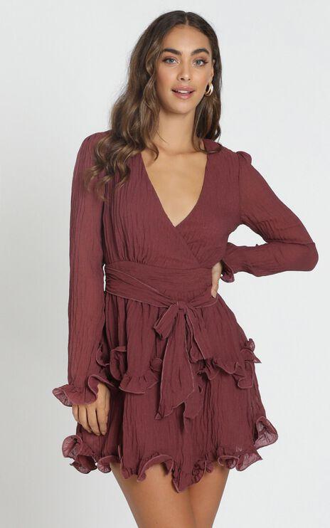 Fearless Love Dress in wine