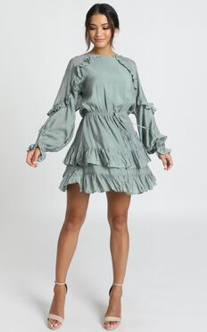 Claudia Dress In Sage