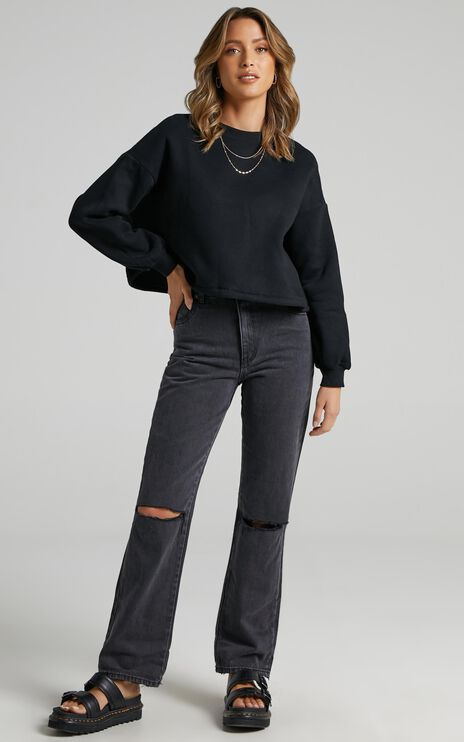 Henri Sweatshirt in Washed Black