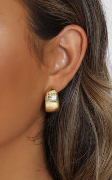 Minc Collections - Island Hoop Earrings In Gold