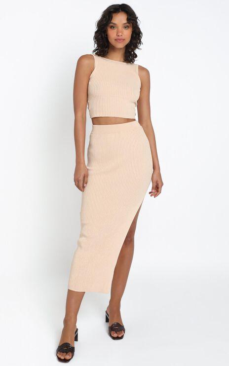 Hana Knit Skirt in Beige