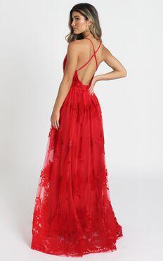 Promenade Maxi Dress In Red