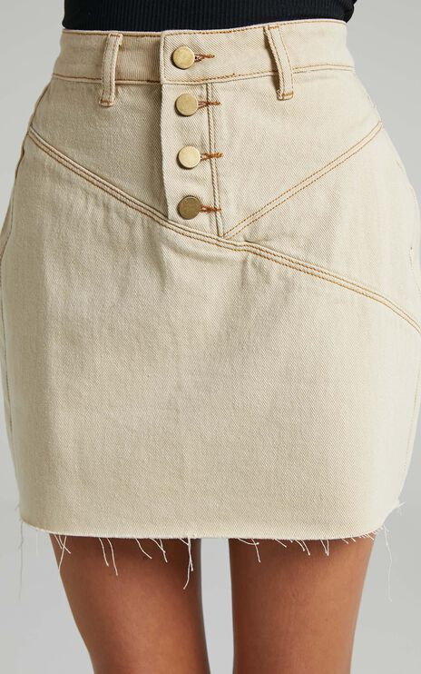 Pogue Skirt in Beige