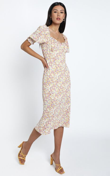 Koby Dress in Pink Floral