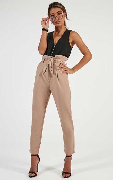 Management Pants In Beige Gingham