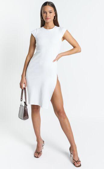 Lioness - Don`t Blame Me Midi Dress in White