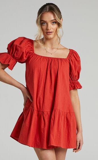 Poppy Dress in Oxy Red