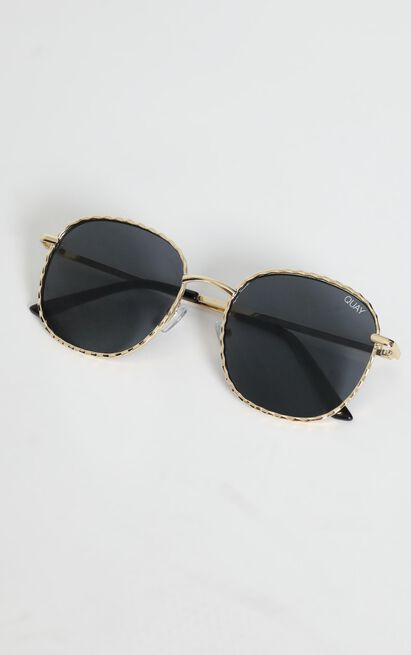 Quay X Lizzo - Jezabell Twist Sunglasses in Gold and Smoke Lens, , hi-res image number null