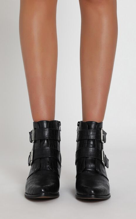 Therapy - Parker Boots In Black Croc