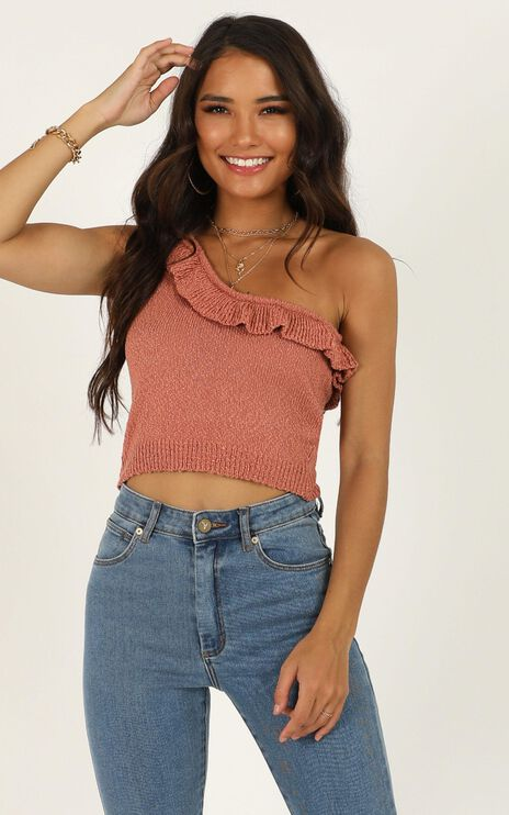 Im Staying Knit Top In Rust