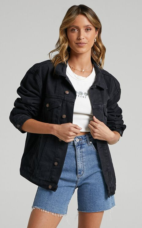 Gambit Denim Jacket In Black