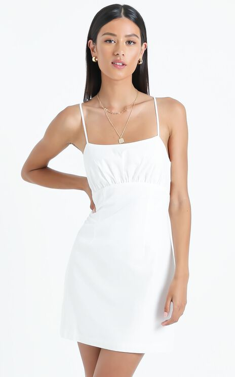 Gretna Dress in White