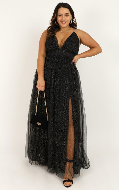 Tell Me Lies Dress In Black Spot Mesh