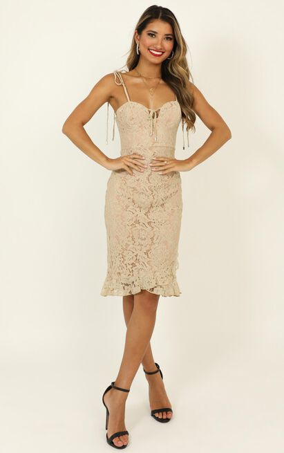Find Our Way To Love Dress in beige lace - 20 (XXXXL), Beige, hi-res image number null