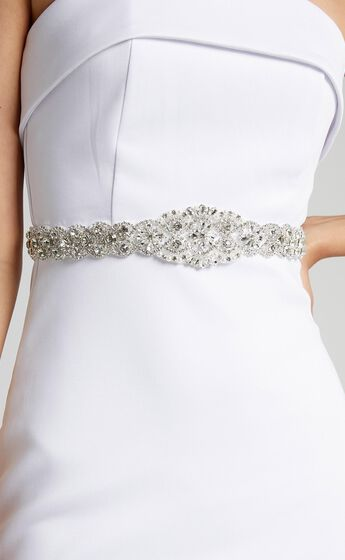 Eternal Flame Belt in Diamante and White