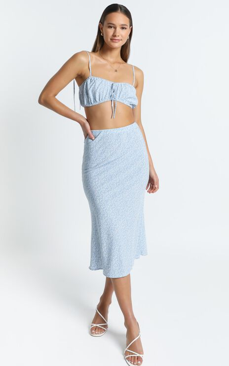 Bodhi Two Piece Set in Blue Floral