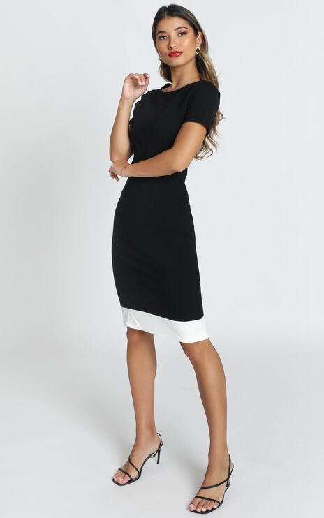 Task Ticker Dress in Black