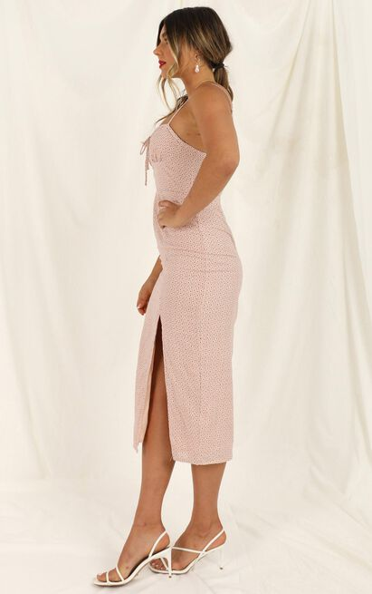 Tired Of You dress in blush micro floral - 12 (L), Blush, hi-res image number null