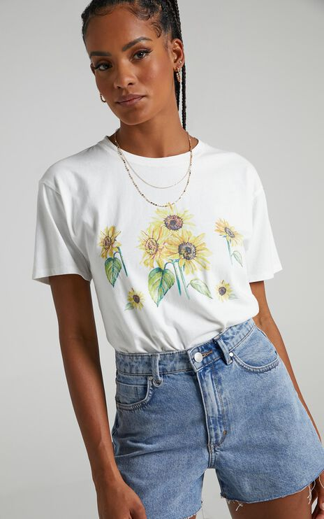 Cools Club - Sunflower Tee in White