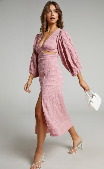 Tabatha Dress in Pink Check