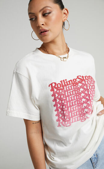 Rollas - Rolling Stone 2020 Tomboy Tee in Vintage White