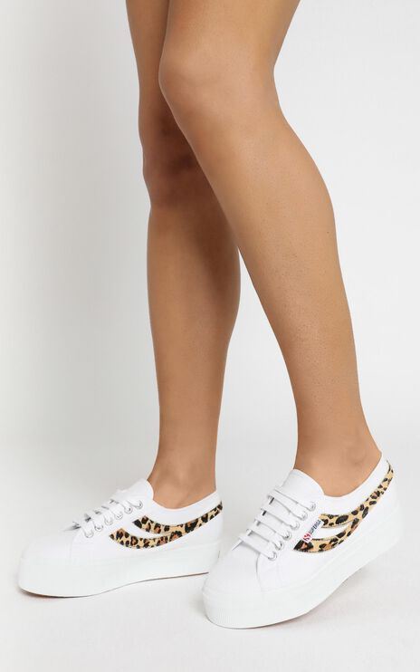 Superga - 2892 COTW Ponyhair Sneakers in White Cheetah
