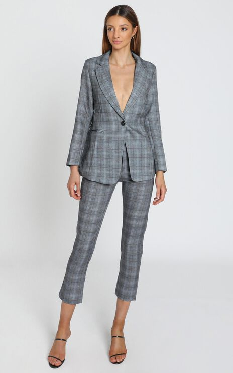 Christine Blazer in Grey Check