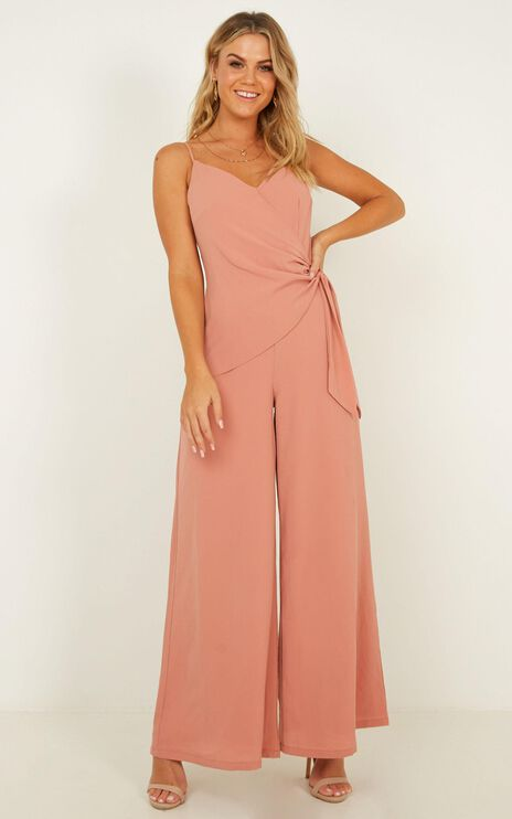 Whispering To You Jumpsuit In Rust