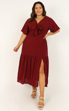 Main Attraction Dress In Wine