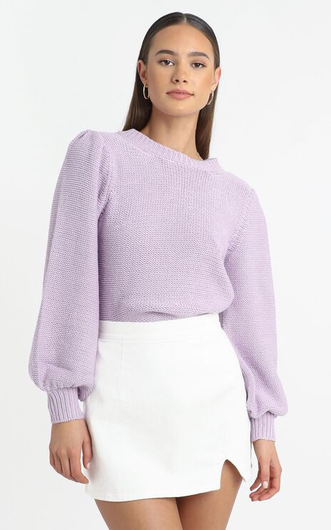 Safia Knit Jumper in Lilac