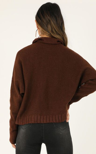 Lifting responsibility Jumper in chocolate - 20 (XXXXL), Brown, hi-res image number null