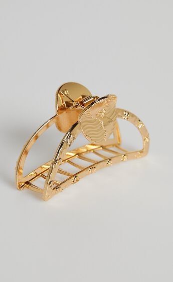 Summer Day Hair Clip in Shiny Gold