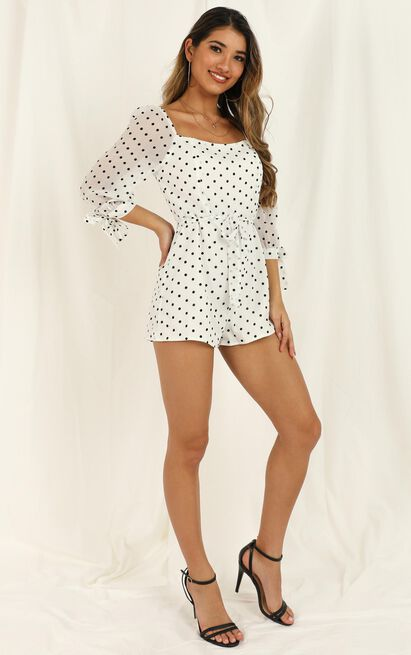 Always Growing Playsuit In ivory spot - 20 (XXXXL), Beige, hi-res image number null