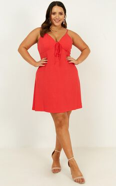 Cooler Thoughts Dress In Red