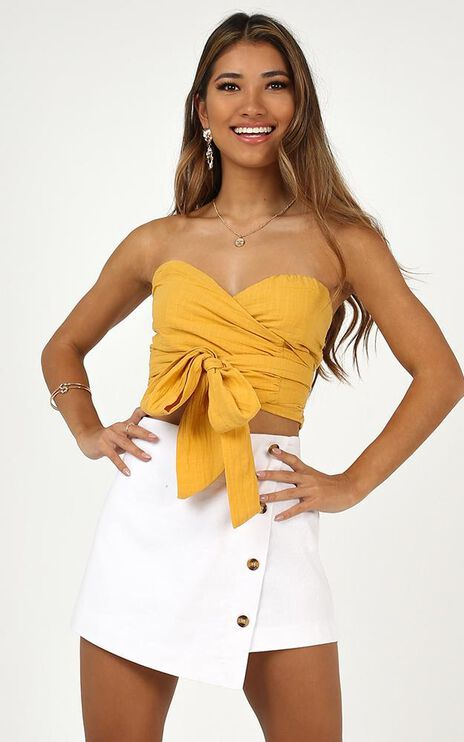 Up And Down Top In Mango Linen Look
