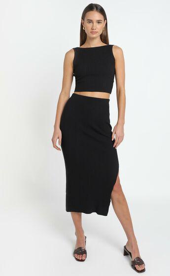 Hana Knit Top in Black