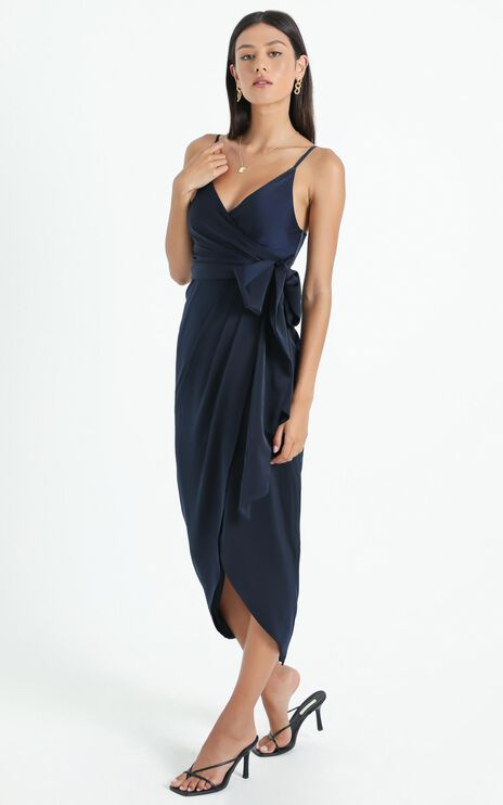 How Will I Know Dress In Navy
