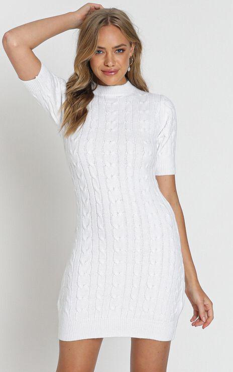 Winter Vacay Dress In Cream