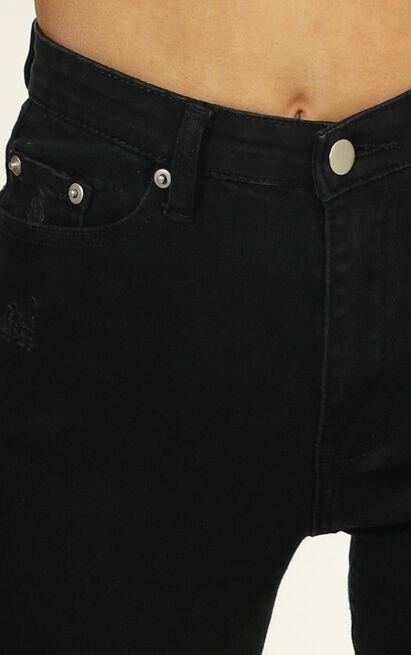Tammy Skinny Jeans in Black Denim - 6 (XS), Black, hi-res image number null