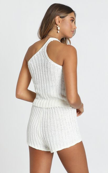 Wasted Times Two Piece Set in white - M/L, White, hi-res image number null