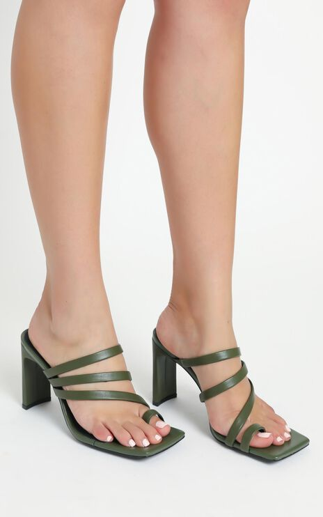 Alias Mae - Carrie Heels in Olive Leather