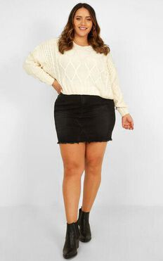 Chords Of Glory Knit Jumper In Cream
