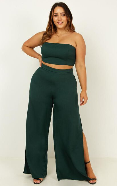 Im The One Two Piece Set In emerald - 8 (S), Green, hi-res image number null