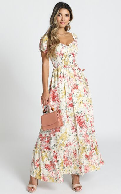 Sonia Dress in multi floral - 14 (XL), White, hi-res image number null