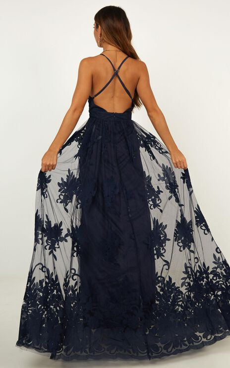 Promenade Maxi Dress In Navy
