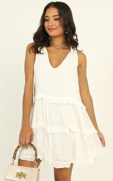 Weekend Away Mini Dress In White