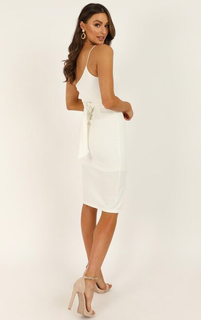 Where And When Dress In White - 14 (XL), White, hi-res image number null
