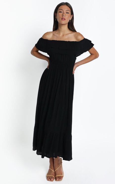 Notre Dame maxi dress in Black