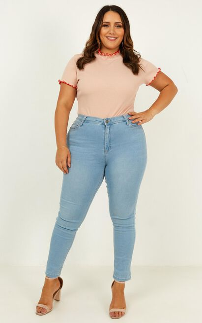 If Only Bodysuit  In blush - 14 (XL), Blush, hi-res image number null